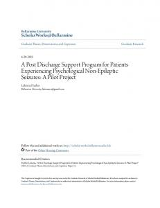 A Post Discharge Support Program for Patients Experiencing Psychological Non-Epileptic Seizures: A Pilot Project
