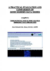 A PRACTICAL EVALUATION AND COMPARISON OF SOME MODERN DATA MODES
