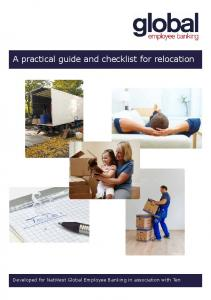 A practical guide and checklist for relocation