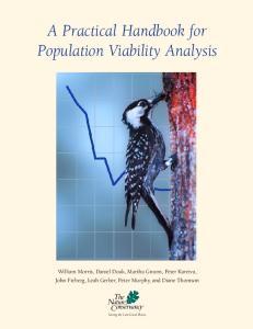 A Practical Handbook for Population Viability Analysis