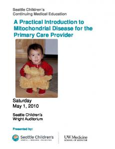 A Practical Introduction to Mitochondrial Disease for the Primary Care Provider