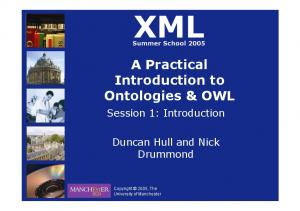 A Practical Introduction to Ontologies & OWL