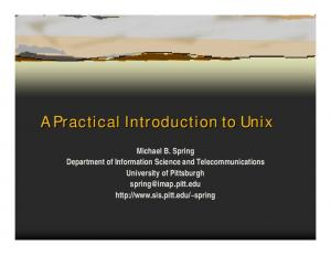 A Practical Introduction to Unix