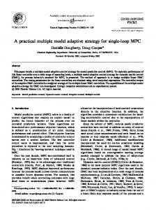 A practical multiple model adaptive strategy for single-loop MPC