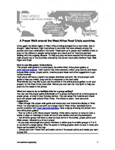 A Prayer Walk around the West Africa Food Crisis countries