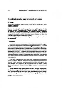 A predicate spatial logic for mobile processes