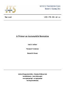 A Primer on Automobile Semiotics