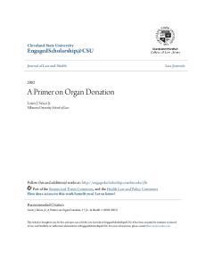 A Primer on Organ Donation