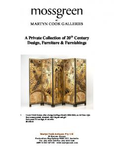 A Private Collection of 20 th Century Design, Furniture & Furnishings