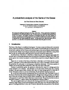 A probabilistic analysis of the Game of the Goose