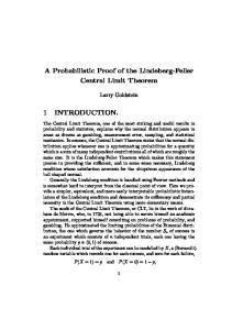 A Probabilistic Proof of the Lindeberg-Feller Central Limit Theorem