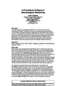 A Procedural Critique of Deontological Reasoning