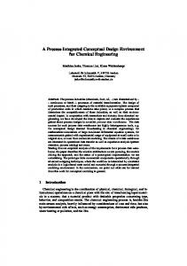 A Process-Integrated Conceptual Design Environment for Chemical Engineering