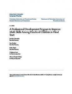 A Professional Development Program to Improve Math Skills Among Preschool Children in Head Start