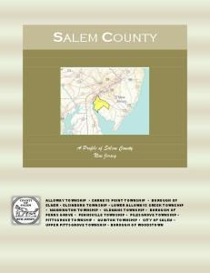 A Profile of Salem County New Jersey