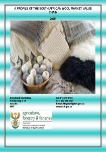 A PROFILE OF THE SOUTH AFRICAN WOOL MARKET VALUE CHAIN