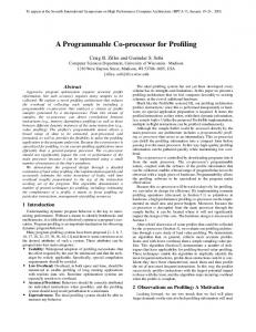 A Programmable Co-processor for Profiling