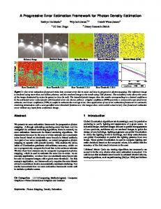 A Progressive Error Estimation Framework for Photon Density Estimation