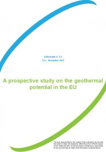 A prospective study on the geothermal potential in the EU