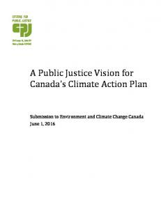 A Public Justice Vision for Canada's Climate Action Plan