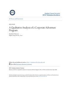 A Qualitative Analysis of a Corporate Adventure Program