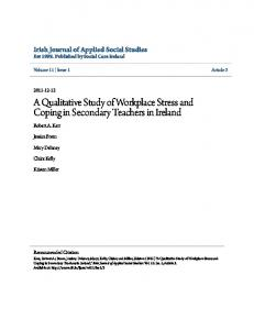 A Qualitative Study of Workplace Stress and Coping in Secondary Teachers in Ireland