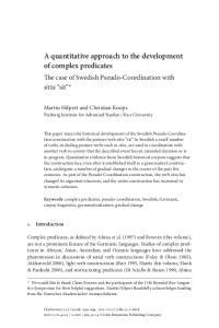 A quantitative approach to the development of complex predicates