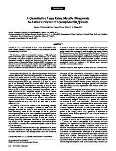 A Quantitative Assay Using Mycelial Fragments to Assess Virulence of Mycosphaerella fijiensis
