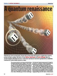 A quantum renaissance