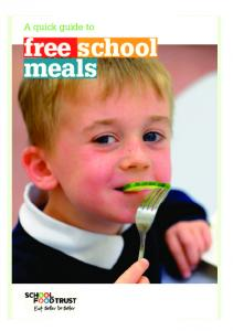 A quick guide to free school meals