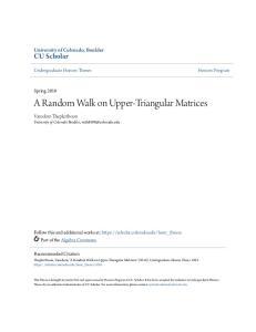 A Random Walk on Upper-Triangular Matrices