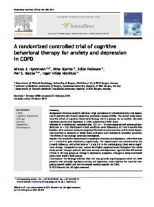 A randomized controlled trial of cognitive behavioral therapy for anxiety and depression in COPD