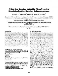 A Real-time Schedule Method for Aircraft Landing Scheduling Problem Based on Cellular Automaton