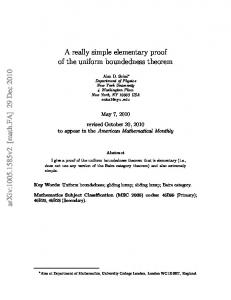 A really simple elementary proof of the uniform boundedness theorem