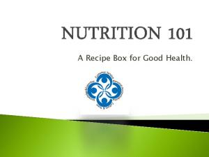 A Recipe Box for Good Health