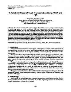 A Reliability Model of Truck Transportation Using FMEA and FTA