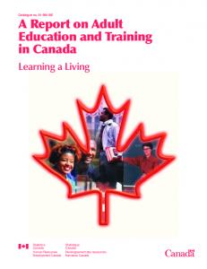A Report on Adult Education and Training in Canada