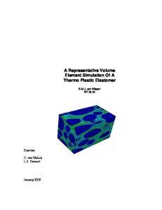 A Representative Volume Element Simulation Of A Thermo Plastic Elastomer