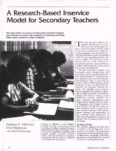 A Research-Based Inservice Model for Secondary Teachers
