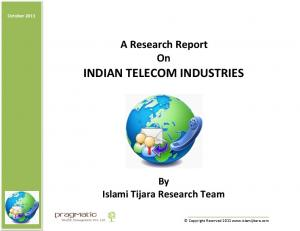 A Research Report On INDIAN TELECOM INDUSTRIES