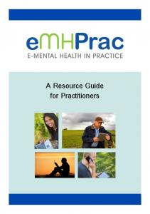 A Resource Guide for Practitioners