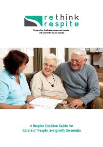 A Respite Decision Guide for Carers of People Living with Dementia