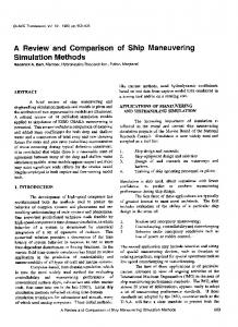 A Review and Comparison of Ship Maneuvering Simulation Methods 609