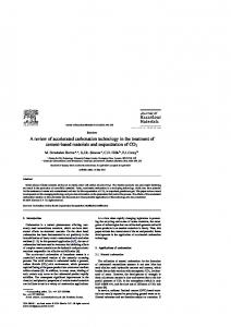 A review of accelerated carbonation technology in the treatment of cement-based materials and sequestration of CO 2