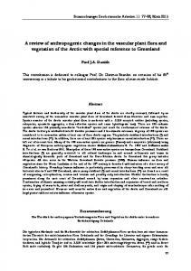 A review of anthropogenic changes in the vascular plant flora and vegetation of the Arctic with special reference to Greenland