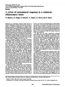 A review of contralateral responses to a unilateral inflammatory lesion