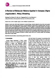 A Review of Molecular Makers Applied in Cowpea (Vigna unguiculata L. Walp.) Breeding