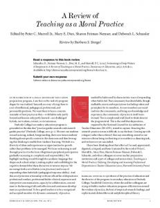 A Review of Teaching as a Moral Practice