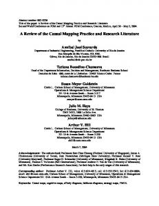 A Review of the Causal Mapping Practice and Research Literature