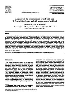 A review of the contamination of soil with lead II. Spatial distribution and risk assessment of soil lead